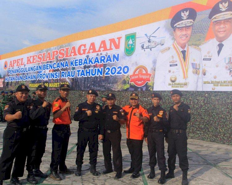 Ketua BNPB, Doni Monardo Pimpin Apel Kesiapsiagaan Di Riau