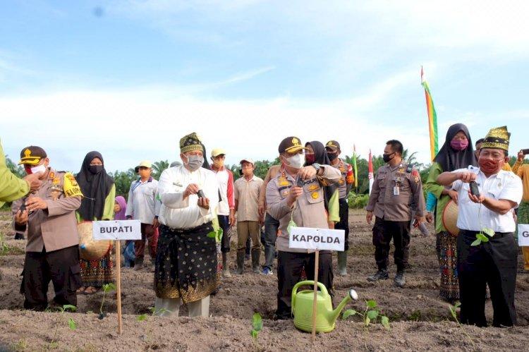 Bupati Alfedri Apresiasi Kapolda Riau Canangkan Gerakan Jaga Kampung, di Kabupaten Siak