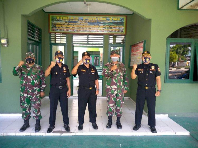 Silaturahim Dengan Danramil Dan Ucapkan HUT TNI KE 75