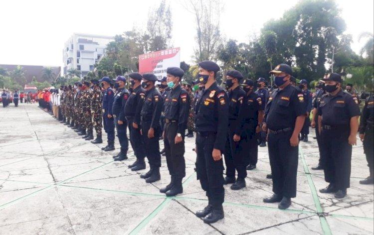 Pemprov Riau Laksanakan Apel Gabungan Kesiapsiagaan Penanggulangan Bencana