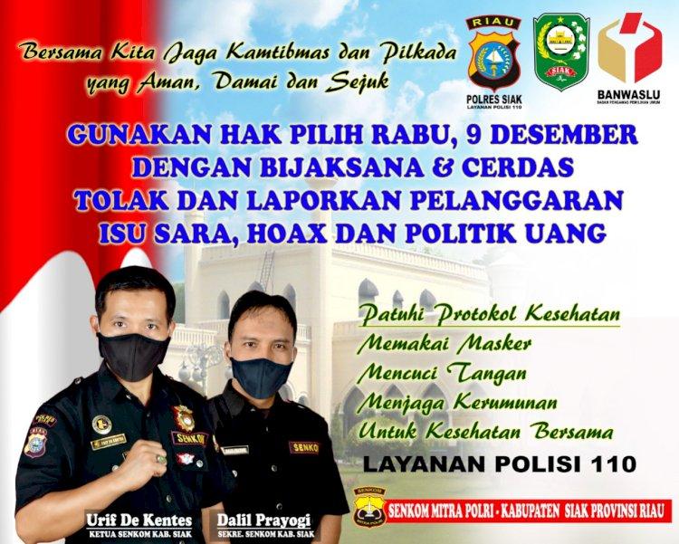 Stakeholder Senkom Mitra Polri Kabupaten Siak Dukung Pilkada Yang Kondusif
