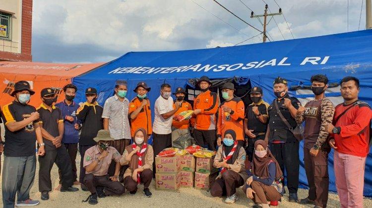 Ketua Biro PB SAR Senkom Riau Komandoi Posko Bencana Banjir Di Tepian Sungai Siak
